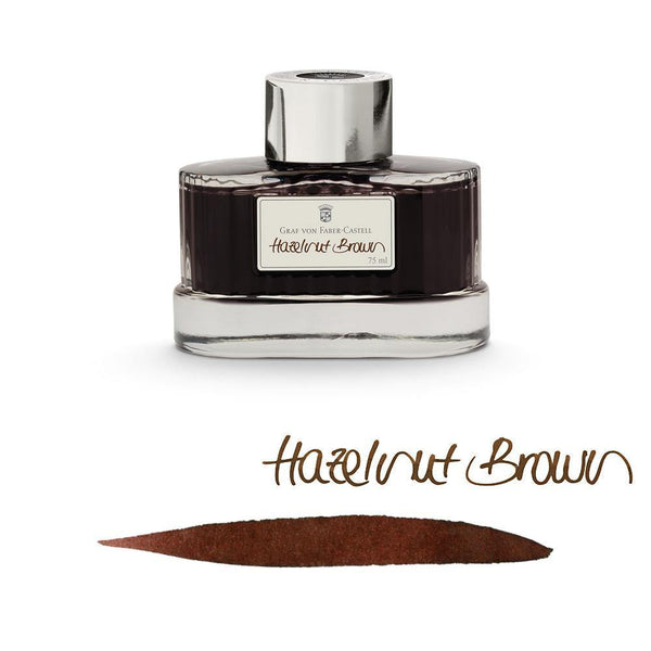 Graf von Faber-Castell Ink Bottle Hazelnut Brown 75ml - Laywine's