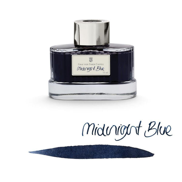 Graf von Faber-Castell Ink Bottle Midnight Blue 75ml - Laywine's