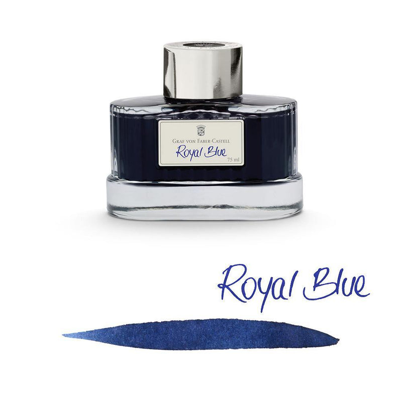 Graf von Faber-Castell Ink Bottle Royal Blue 75ml - Laywine's