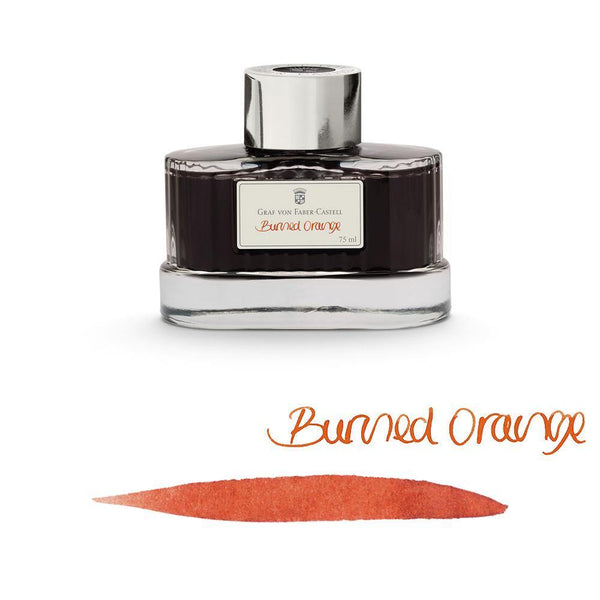 Graf von Faber-Castell Ink Bottle Burned Orange 75ml - Laywine's