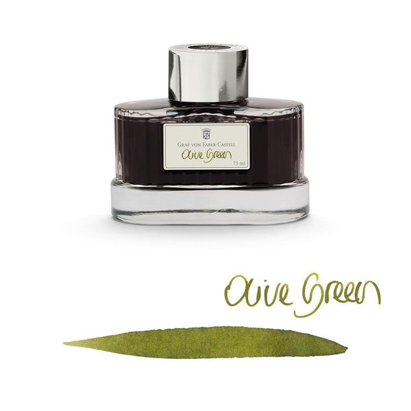 Graf von Faber-Castell Ink Bottle Olive Green 75ml