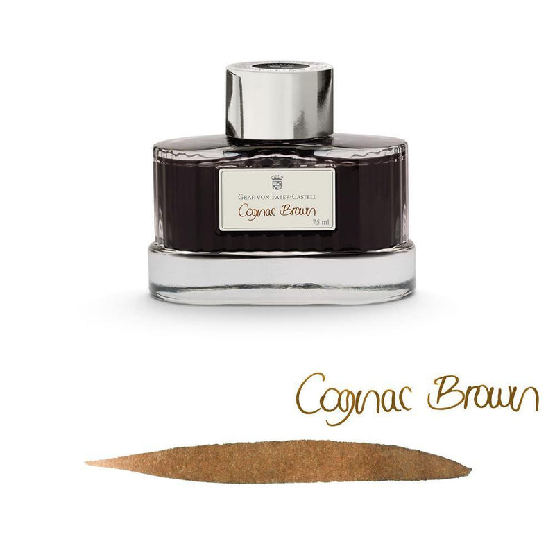 Graf von Faber-Castell Ink Bottle Cognac Brown 75ml