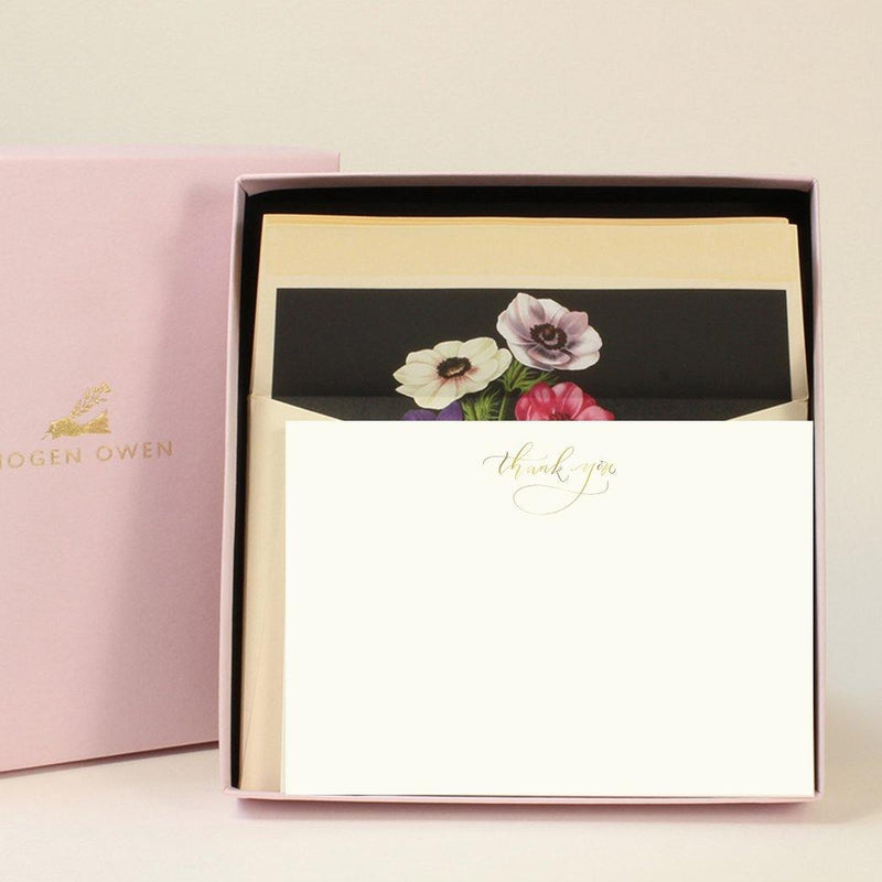 Imogen Owen Boxed Luxury Correspondence Anemone Thank You - Laywine's