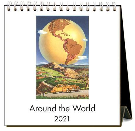 Found Image Press Desk Calendar, Around the World, 2021