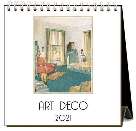 Found Image Press Desk Calendar, Art Deco, 2021 - Laywine's
