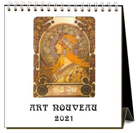 Found Image Press Desk Calendar, Art Nouveau, 2021