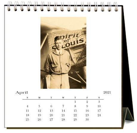 Found Image Press Desk Calendar, Aviation, 2021