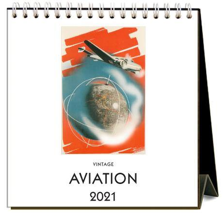 Found Image Press Desk Calendar, Aviation, 2021 - Laywine's
