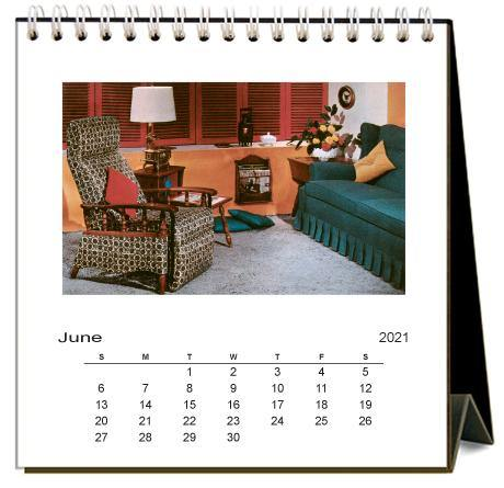 Found Image Press Desk Calendar, Bad Interiors, 2021