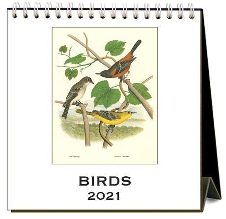 Found Image Press Desk Calendar, Birds, 2021 - Laywine's