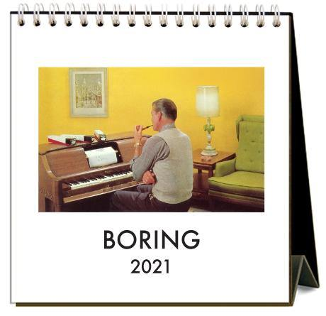 Found Image Press Desk Calendar, Boring, 2021 - Laywine's