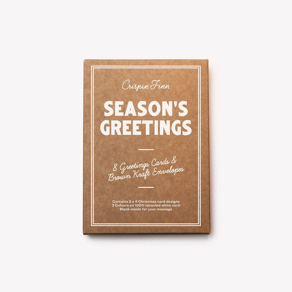 Crispin Finn Seasons Greetings Box of 8 Cards - Laywine's