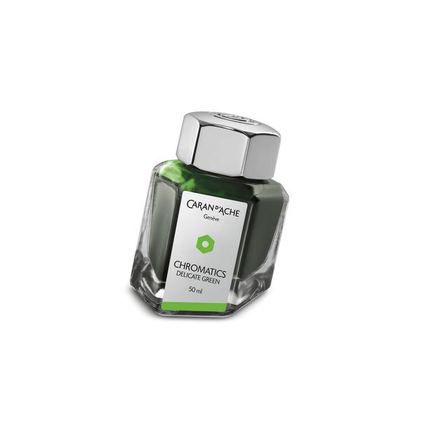 Caran D'Ache Chromatics Ink Bottle Delicate Green 50ml - Laywine's