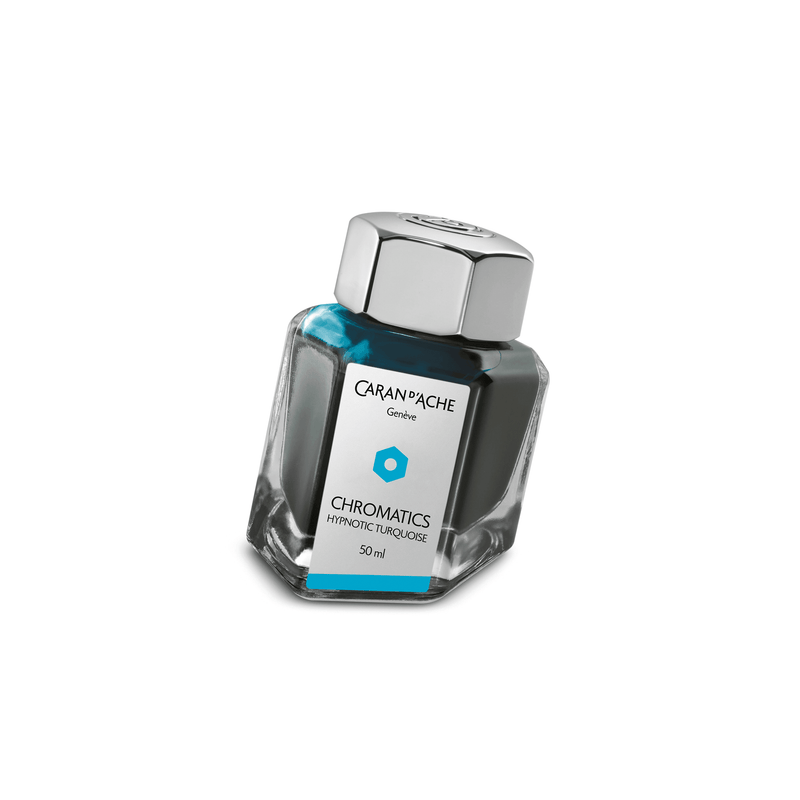 Caran D'Ache Chromatics Ink Bottle Hypnotic Turquoise 50ml - Laywine's