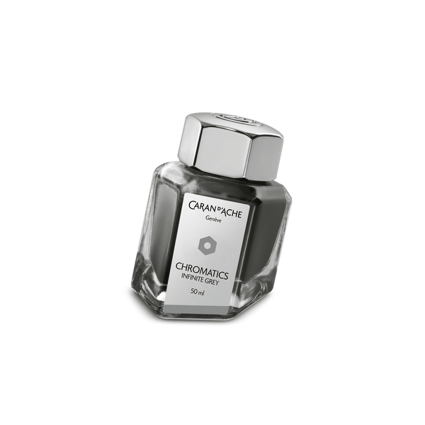 Caran D'Ache Chromatics Ink Bottle Infinite Grey 50ml - Laywine's