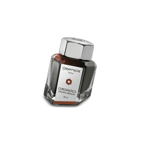 Caran D'Ache Chromatics Ink Bottle Organic Brown 50ml - Laywine's