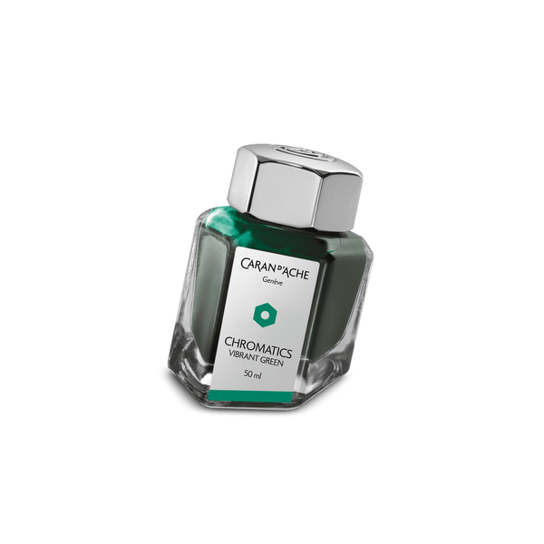 Caran D'Ache Chromatics Ink Bottle Vibrant Green 50ml