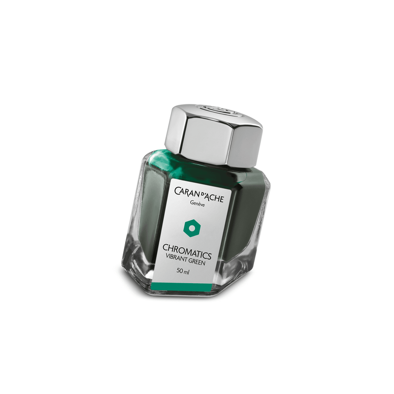 Caran D'Ache Chromatics Ink Bottle Vibrant Green 50ml - Laywine's