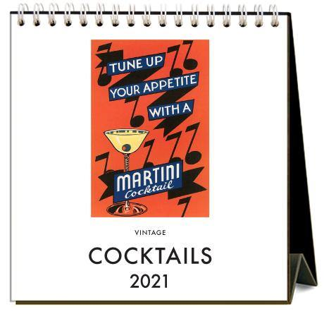 Found Image Press Desk Calendar, Cocktails, 2021 - Laywine's