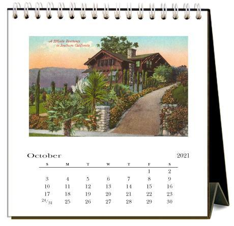 Found Image Press Desk Calendar, Craftsman Bungalows, 2021