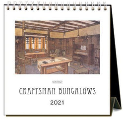 Found Image Press Desk Calendar, Craftsman Bungalows, 2021 - Laywine's
