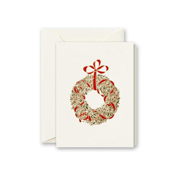 Crane Engraved Classic Wreath Box of 8 Cards - Laywine's