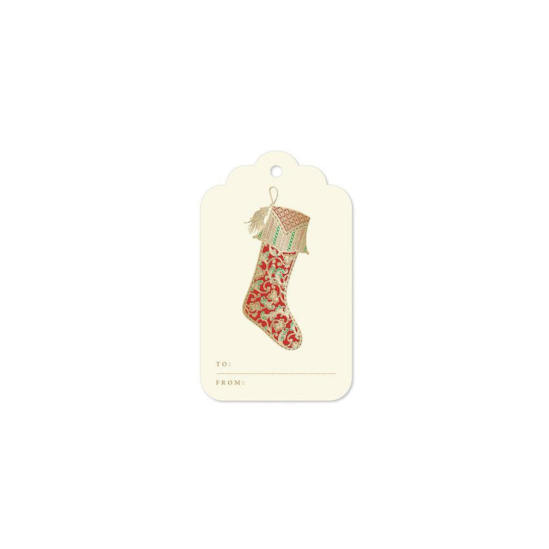 Crane Paisley Stocking Set of 6 Gift Tags - Laywine's