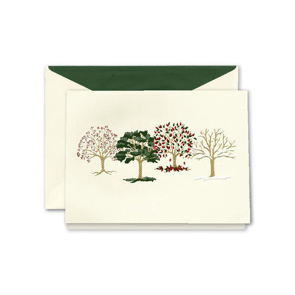 Crane Engraved Four Seasons Box of 10 Cards - Laywine's