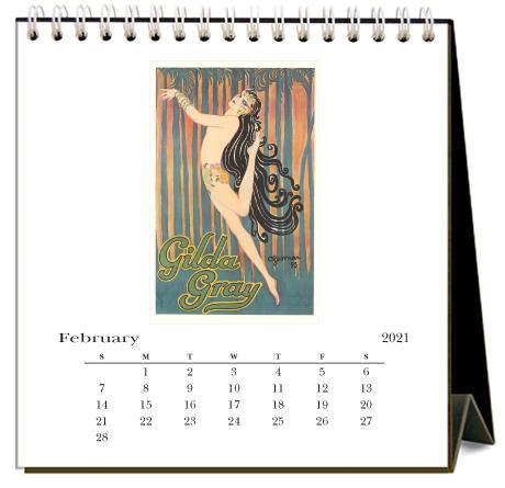Found Image Press Desk Calendar, Dance, 2021