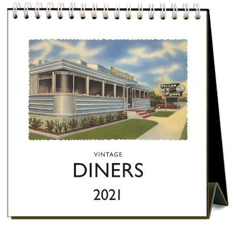 Found Image Press Desk Calendar, Diners, 2021