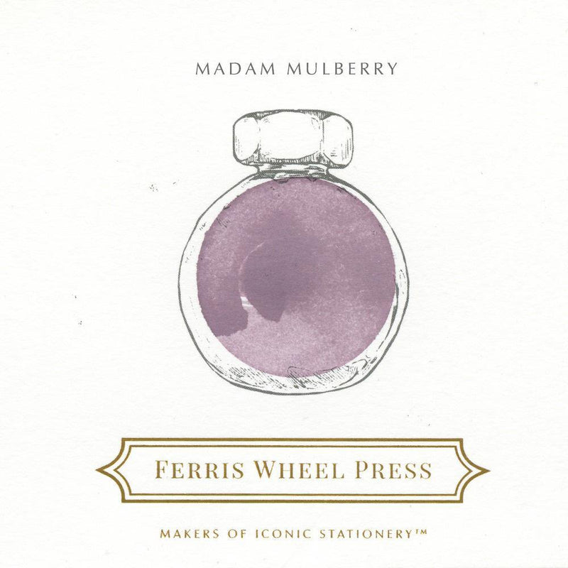 Ferris Wheel Press Madam Mulberry Ink Bottle 38ml - Laywine's