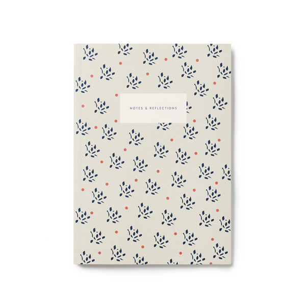 Kartotek Notes & Reflections Notebook Floral/Sand - Laywine's