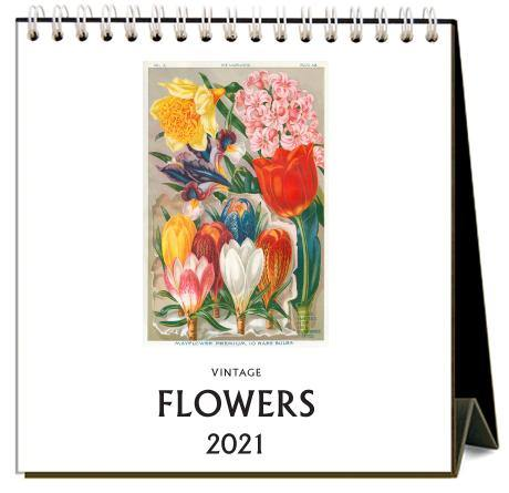 Found Image Press Desk Calendar, Flowers, 2021