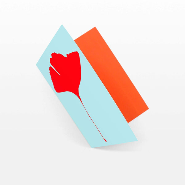 Common Modern Ginkgo Pop Blue/Red Card - Laywine's