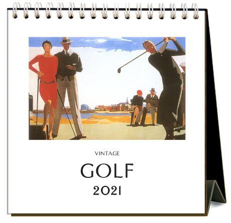 Found Image Press Desk Calendar, Golf, 2021