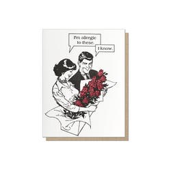 Guttersnipe Press Allergic To Roses Card - Laywine's