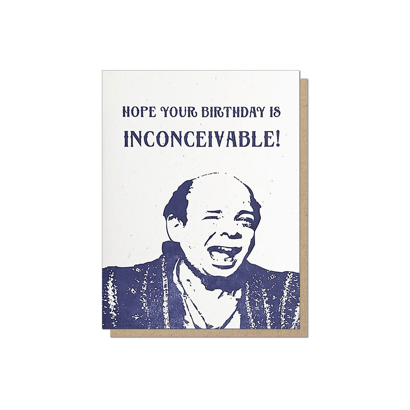 Guttersnipe Press Inconceivable Birthday Card - Laywine's