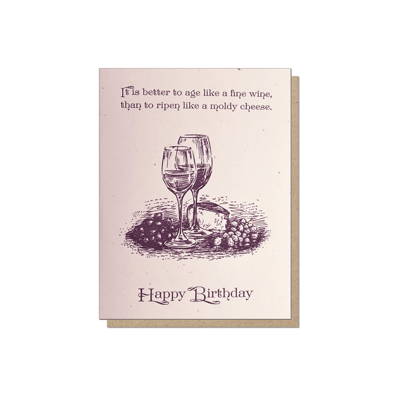 Guttersnipe Press Fine Wine Birthday Card - Laywine's