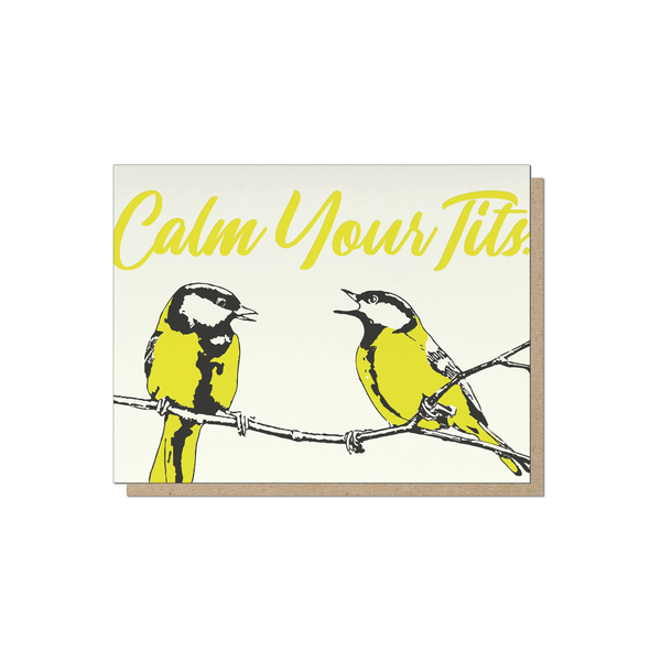 Guttersnipe Press Calm Tits Card - Laywine's