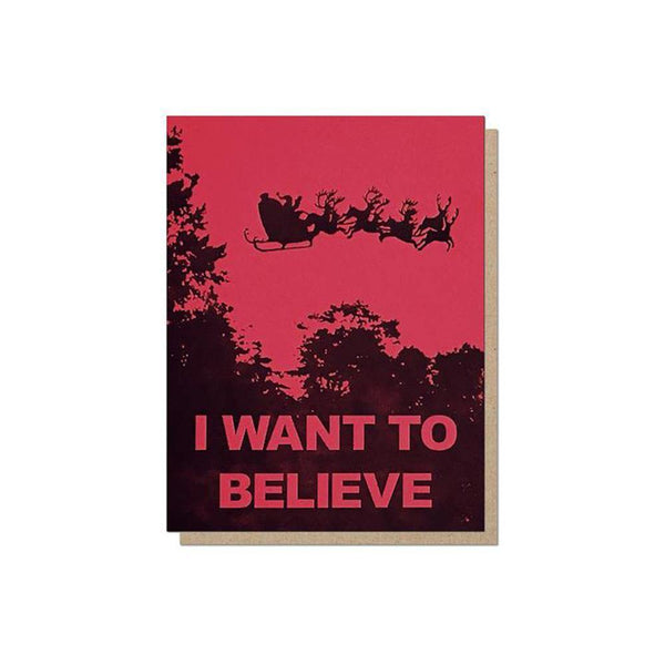 Guttersnipe Press I Want To Believe Box of 6 Cards