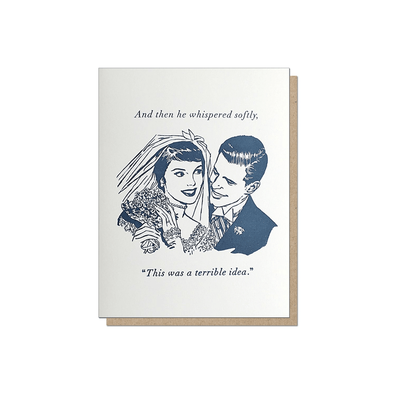 Guttersnipe Press Terrible Idea Wedding Card - Laywine's