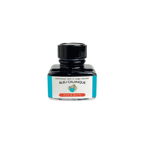 Herbin Bleu Calanque Ink Bottle 30ml - Laywine's