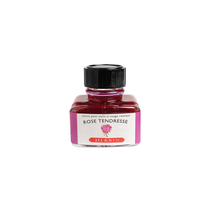 Herbin Rose Tendresse Ink Bottle 30ml - Laywine's