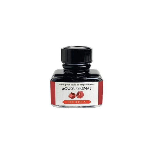 Herbin Rouge Grenat Ink Bottle 30ml - Laywine's