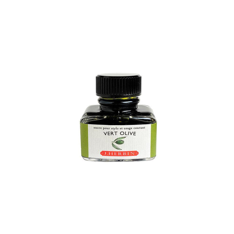 Herbin Vert Olive Ink Bottle 30ml - Laywine's