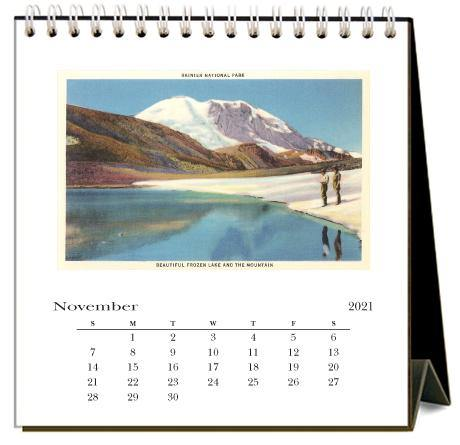 Found Image Press Desk Calendar, Hiking, 2021