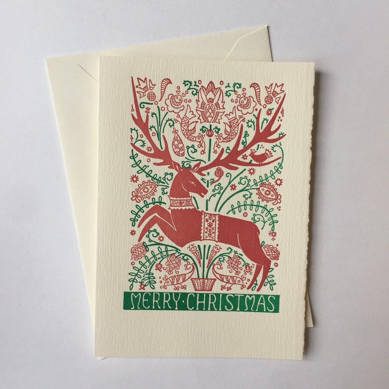 Saturn Press Folk Deer Box of 8 Cards - Laywine's