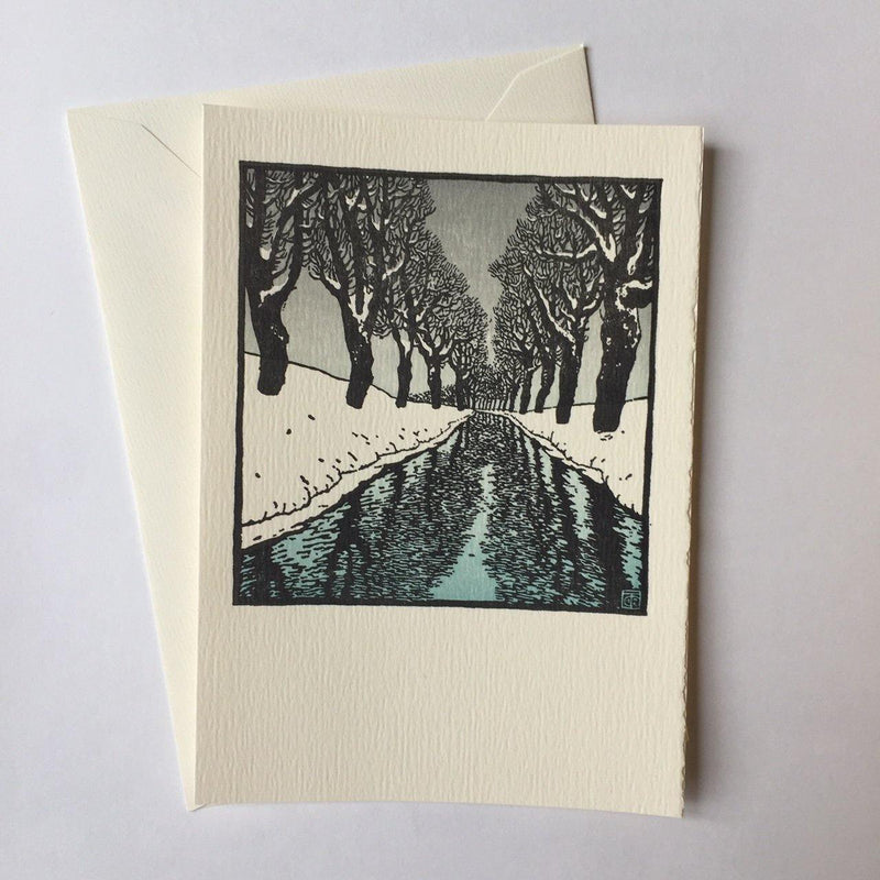 Saturn Press Snow Stream Box of 8 Cards - Laywine's