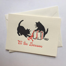 Saturn Press Wrap Cats Box of 8 Cards - Laywine's