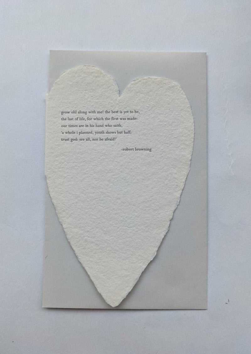 Oblation Deckle Heart Card Browning - Laywine's